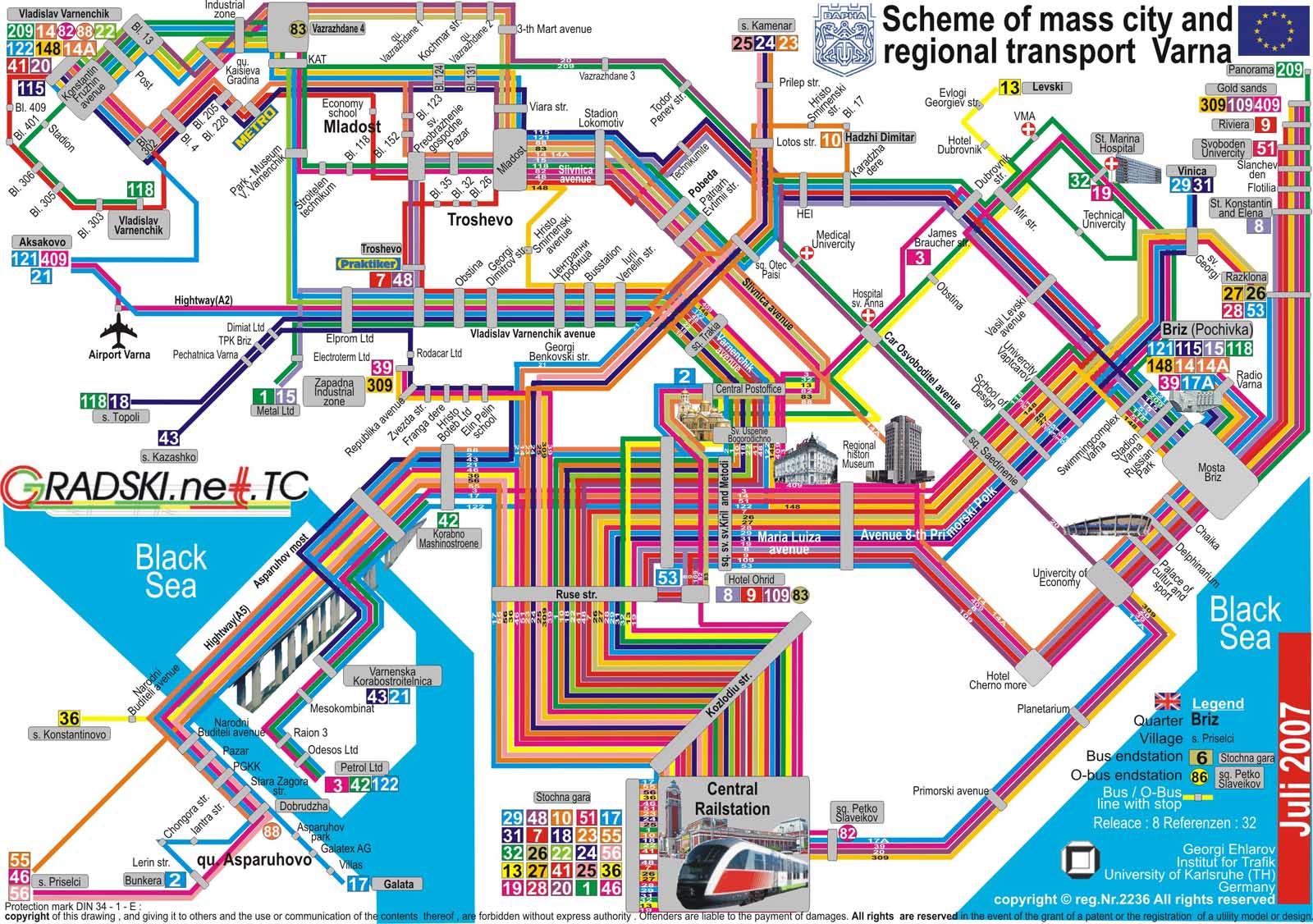 Karta 2019 Karta Na Varna S Avtobusni Linii